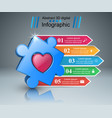 health puzzle icon 3d medical infographic vector image