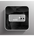 icon keyboard laptop input put key alphabet tool vector image vector image