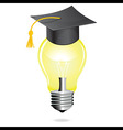 idea and education concept icon light bulb student vector image