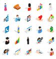 individual icons set isometric style vector image vector image