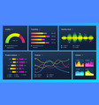infographic dashboard finance data analytic vector image vector image