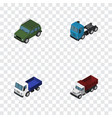 isometric automobile set of armored truck lorry vector image vector image