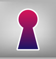keyhole sign purple gradient vector image vector image