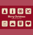 list for christmas fun christmas card flat design vector image