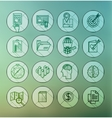 modern thin line icons for web and mobile vector image vector image
