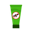 mosquito repellent cream icon isolated on white vector image vector image
