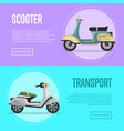 new scooter flyers with classic city mopeds vector image vector image