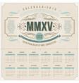 ornate vintage calendar of 2015 vector image vector image