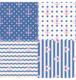 pattern navy set vector image
