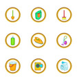 purification icons set cartoon style vector image vector image