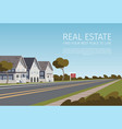 real estate find your best place to live vector image vector image
