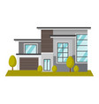 residential building cartoon vector image