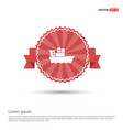 sea ship icon - red ribbon banner vector image vector image