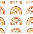 seamless pattern with burnt orange rainbow vector image vector image