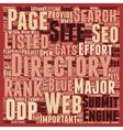 SEO Best Practice Befriend The Directories text vector image vector image