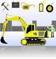 service and diagnostics excavator vector image