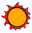 shiny sun icon icon cartoon vector image vector image