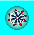 ship wheel marine wooden vintage isolated on vector image vector image