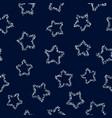 Silver stars on dark background seamless pattern