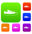 sneakers set collection vector image vector image