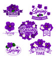 springtime greeting quotes flowers design vector image vector image