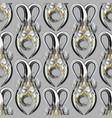striped floral greek key meander 3d seamless vector image