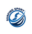 surfing sport logo vector image vector image