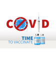 syringe global vaccination realistic 3d glass vector image