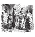 the prophecy of simeon at the presentation of vector image vector image