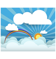 White cloud on sky blue background with space vector image vector image