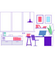workplace empty modern office interior vacant vector image