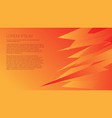 yellow-orange abstract background vector image vector image