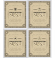 Set of creative restaurant menu cover design vector image