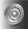 Abstract 3D shape icon vector image vector image