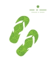 abstract green and white circles flip flops vector image vector image