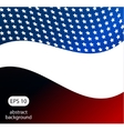 Abstract of American flag vector image