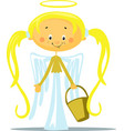 angel - isolated on white back vector image