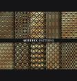 art deco pattern golden minimalism lines vintage vector image