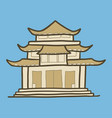 asia temple icon hand drawn style vector image