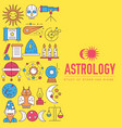 astrology house icons design set vector image