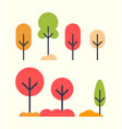 autumnal plants in abstract design fall bushes vector image