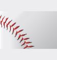 baseball stitching vector image vector image