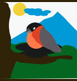 bird on tree vector image