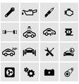 black car service icon set vector image vector image