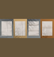 blank paper with folds realistic empty sheets on vector image vector image