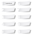 Blank white advertising coupon cut from alphabet vector image vector image