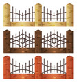 brick fences vector image vector image