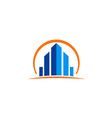 building cityscape construction business logo vector image vector image