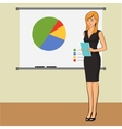 Businesswoman teacher is presenting training vector image vector image