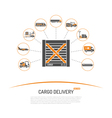Cargo Delivery Concept vector image vector image